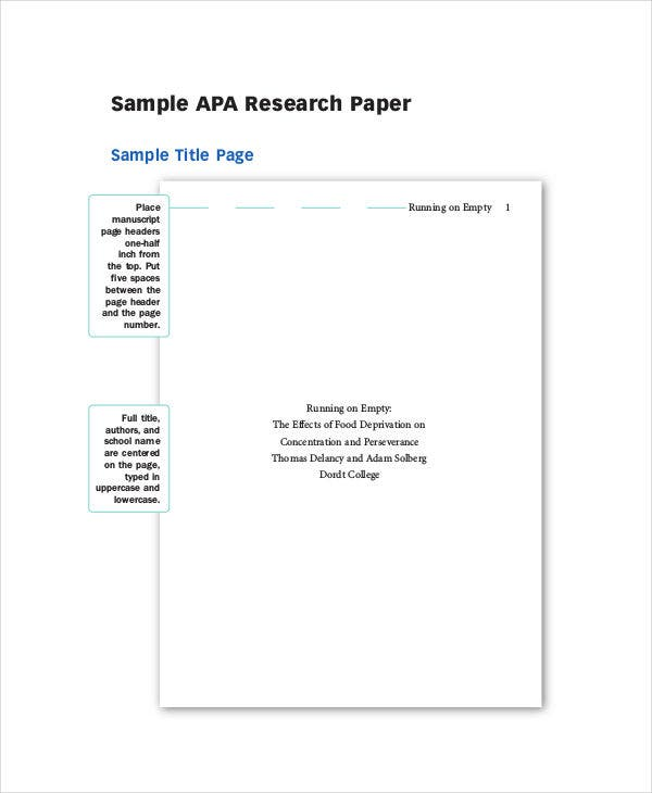 research paper samples  free  premium templates apa style research paper