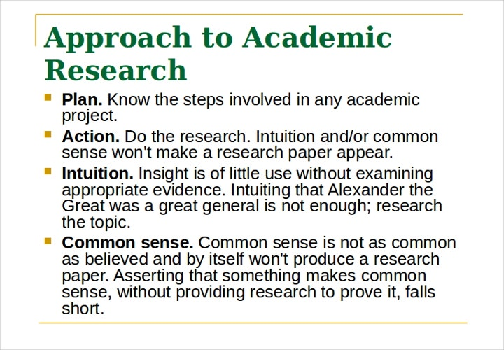 academic research approach