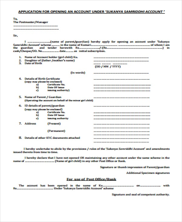 account opening application1
