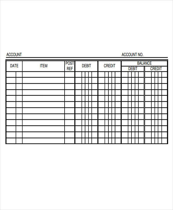 Ledger Paper Templates  Free Samples Examples Format Download