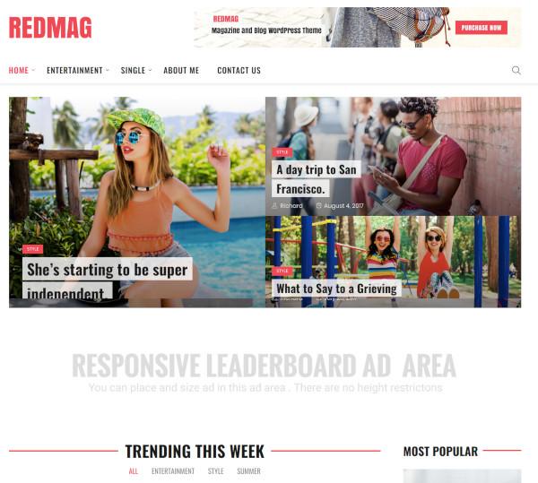 adsense optimized entertainment news theme