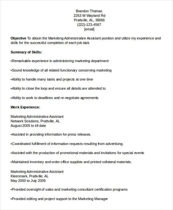 27  marketing resume templates in pdf