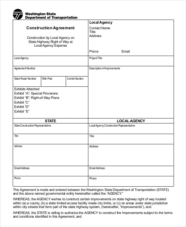 35 Free Agreement Forms Free Premium Templates