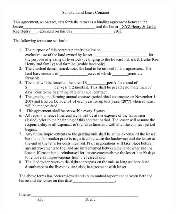 land contract form simple land contract form 7 land