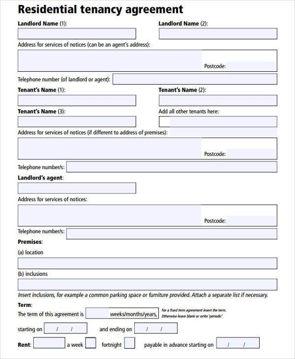 38 Agreement Form Samples Free Premium Templates