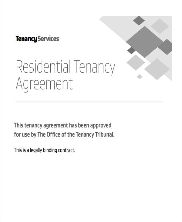 agreement for residential tenancy
