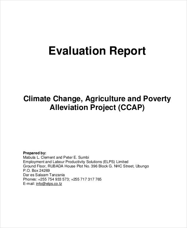 agriculture project evaluation