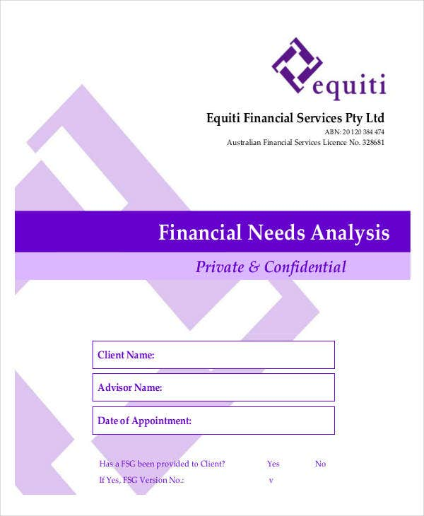 42 free analysis templates free premium templates for Financial needs analysis template free