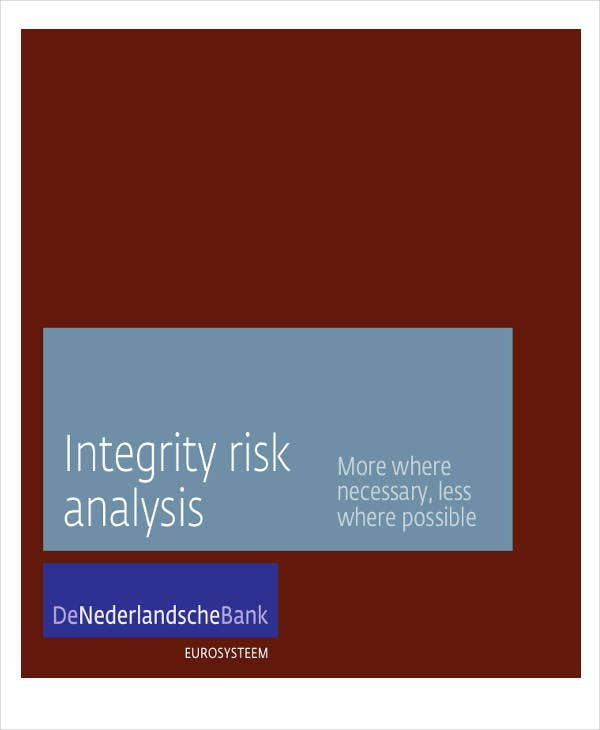 analysis for integrity risk