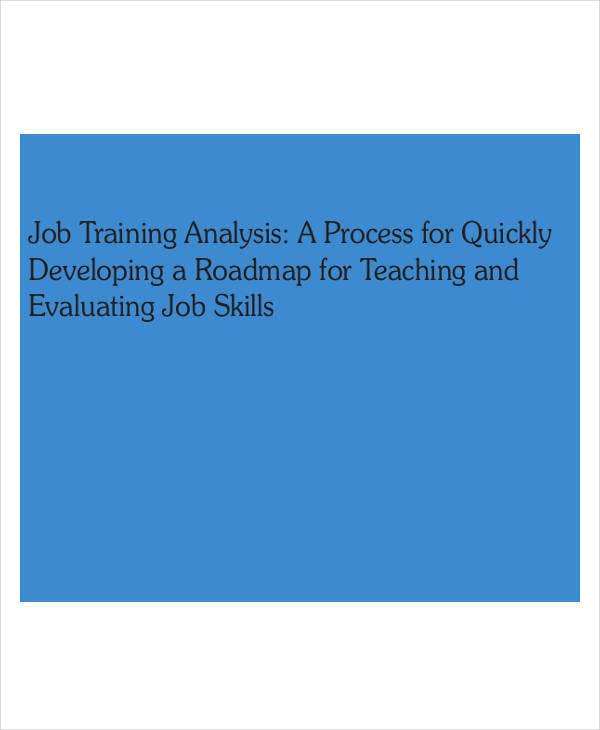 analysis for job training