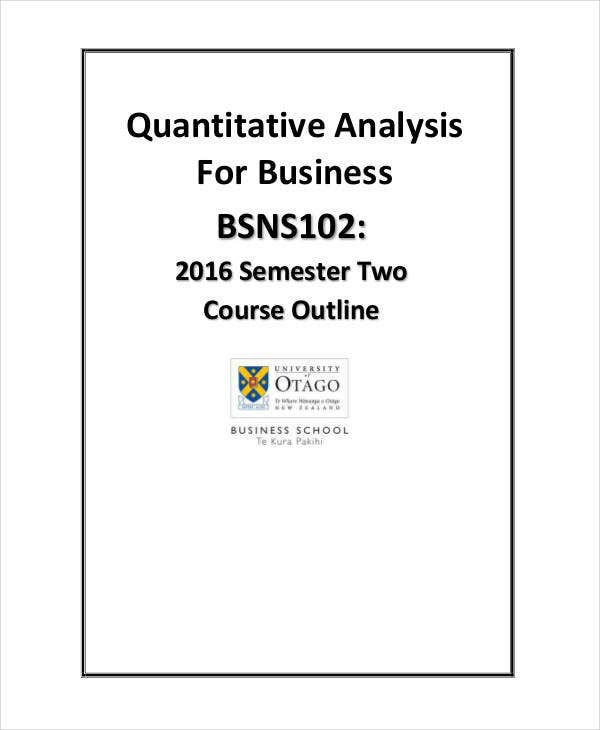 quantitative analysis for business Quantitative techniques render valuable services in the field of business and industry today, all decisions in business and industry are made with the help of quantitative techniques some important uses of quantitative techniques in the field of business and industry are.