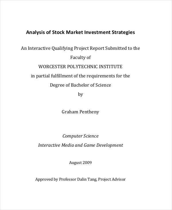 analysis for stock market