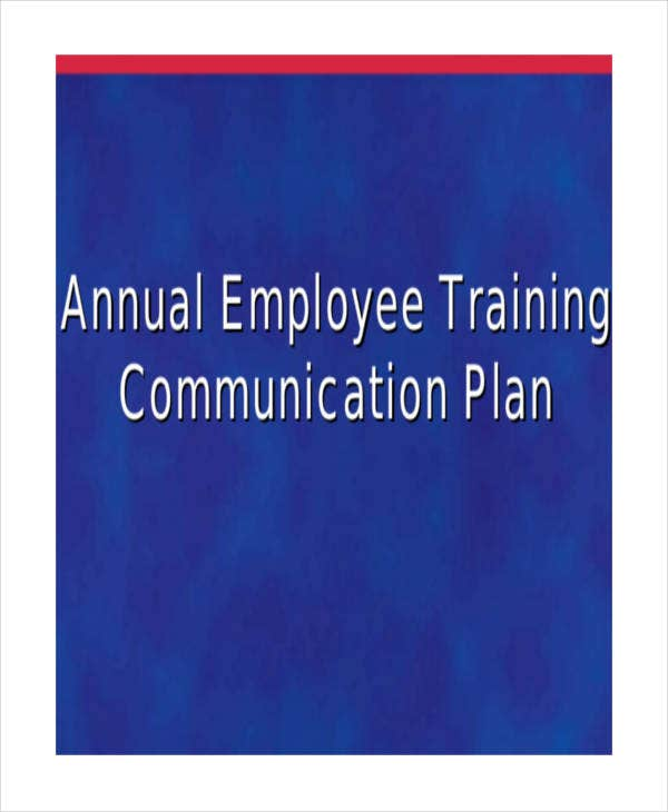 annual employee training plan