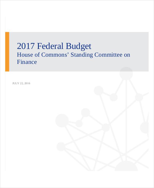annual federal budget