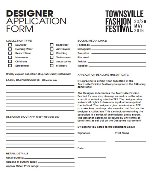 Fashion Order Forms Free Sample Example Format Download Free - Commercial invoice template excel free download streetwear online store