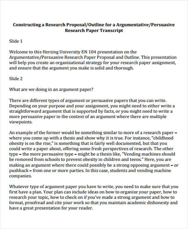 research assignment template