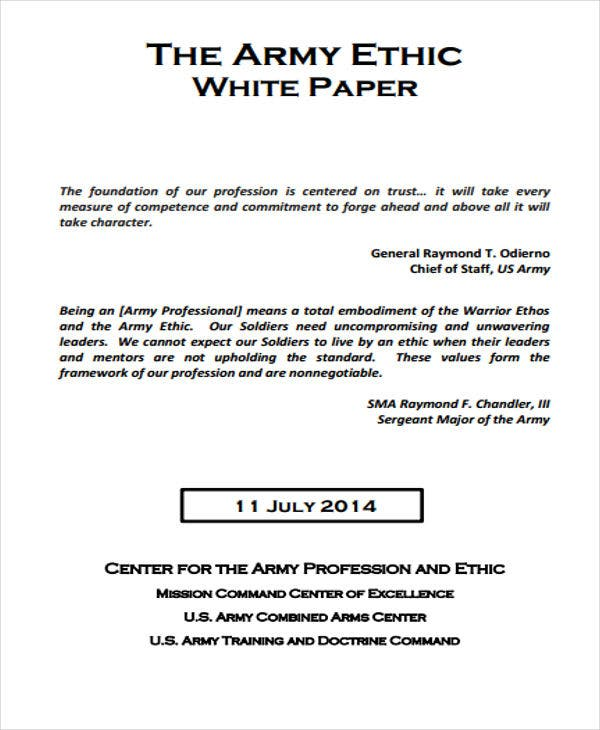 army ethics white paper1