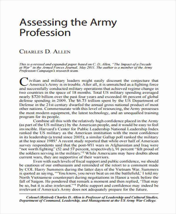army profession white paper3