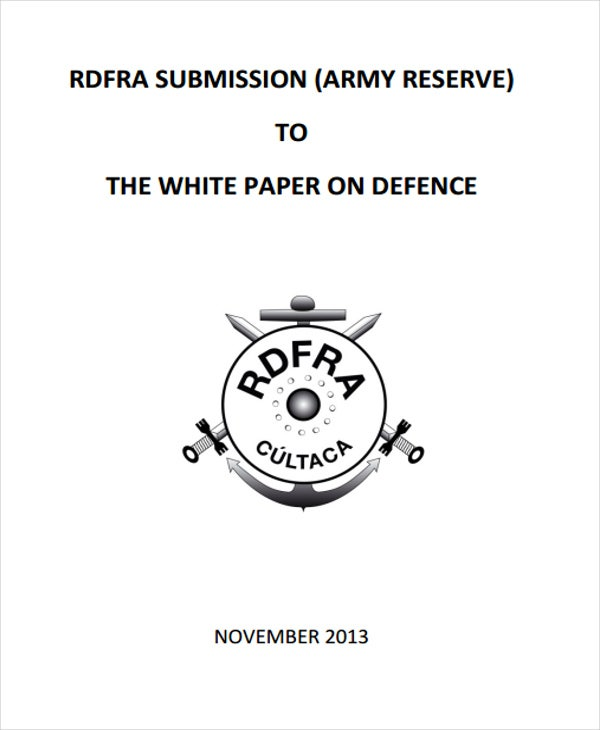 army reserves white paper