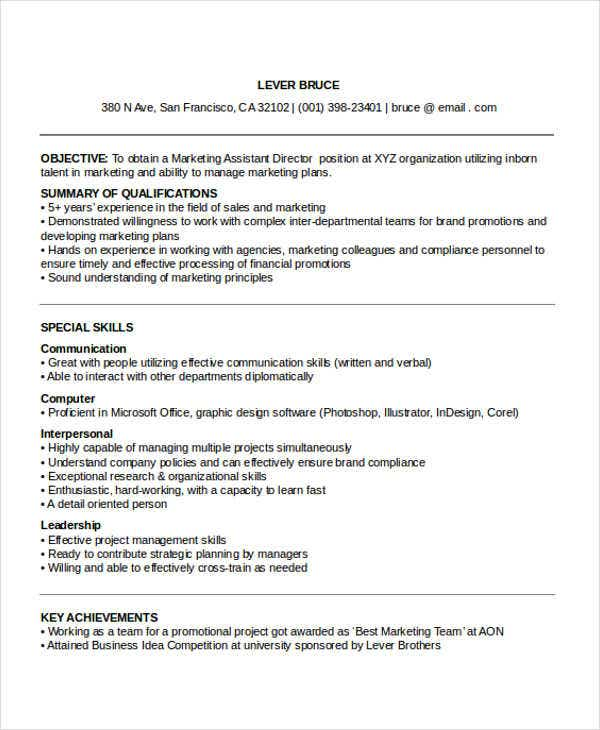 27 Marketing Resume Templates In Pdf Free Amp Premium
