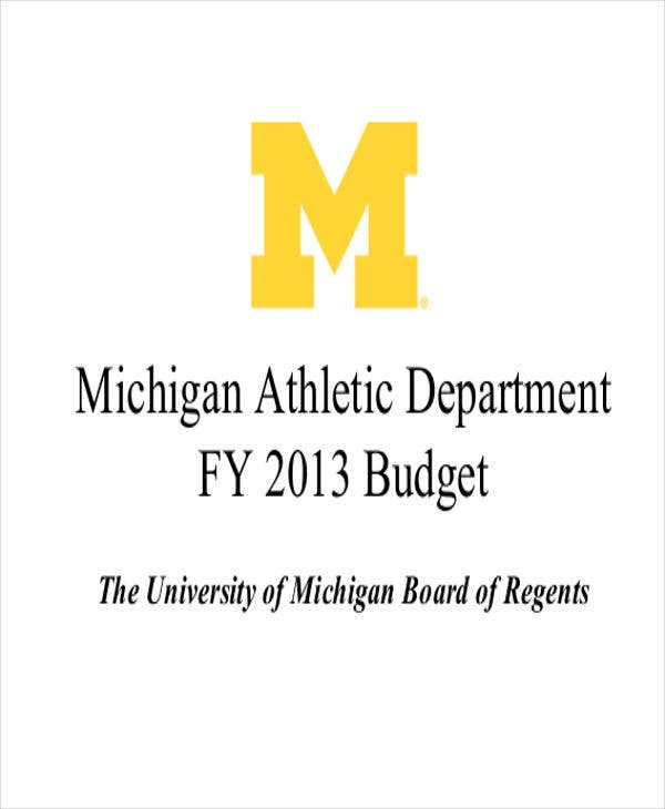athletic department budget