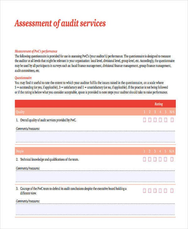 audit assessment in pdf