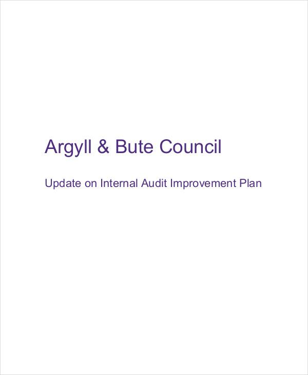 audit improvement plan
