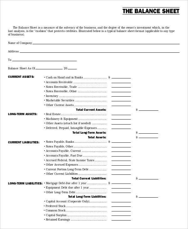 Non profit sheet templates 6 free word pdf format download free balance sheet of non profit accmission Images