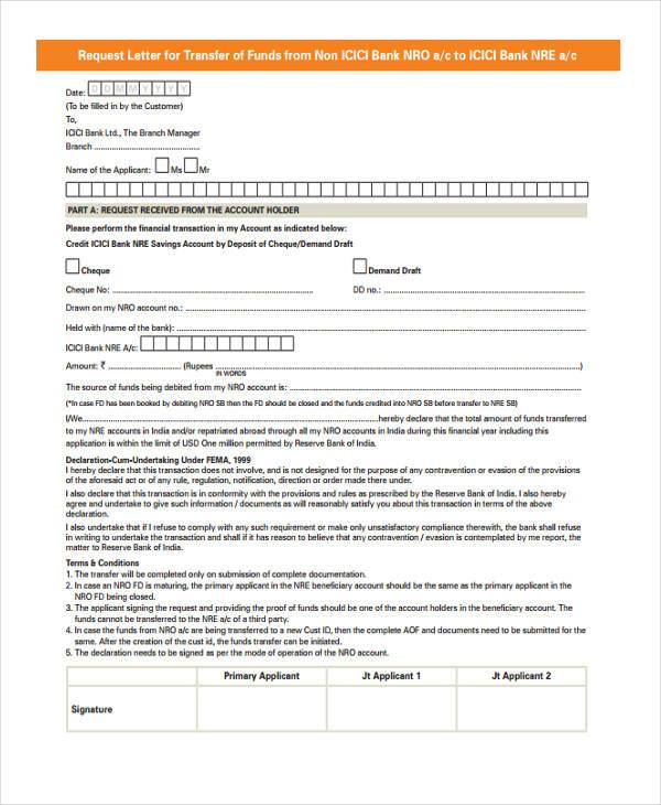 bank fund transfer letter1
