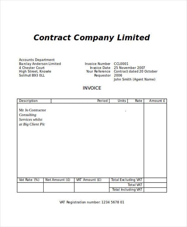 basic blank invoice