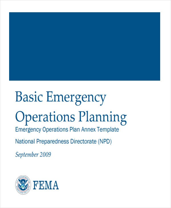 emergency operation plan template 8 emergency operations plan templates free sample