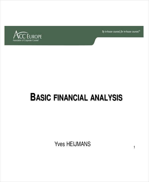 basic financial analysis