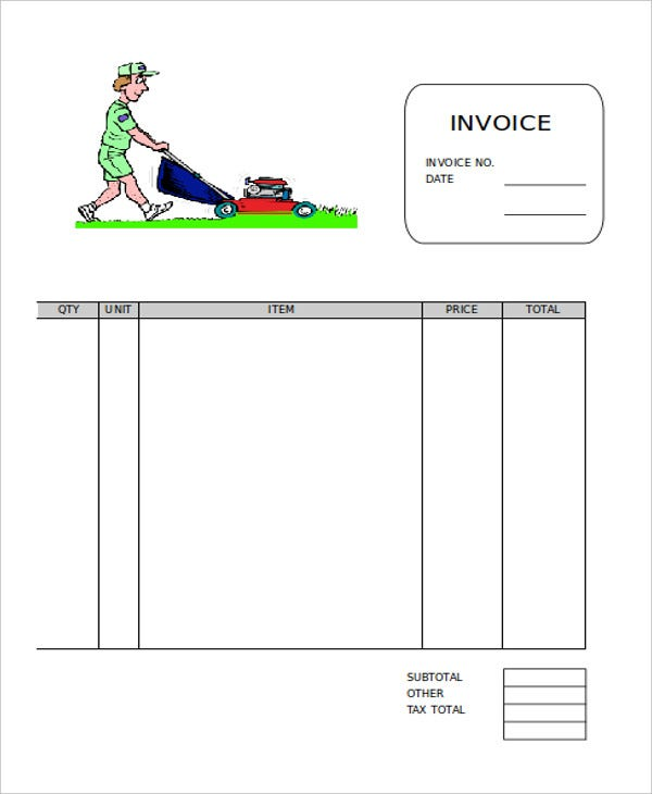 Invoice Template Printable Free Word Lawn Care Invoice Template   Free Word Pdf Format Download  Paying Invoices Word with Email Receipt Template Excel Basic Invoice Confirm Its Receipt Excel