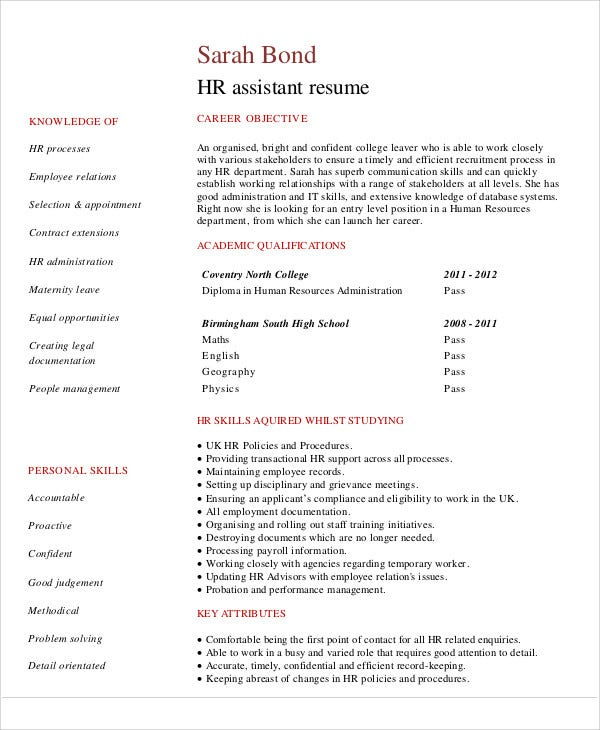 9+ Fresher Resume Templates In PDF