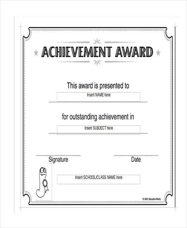 It's just a photo of Refreshing Blank Award Certificates