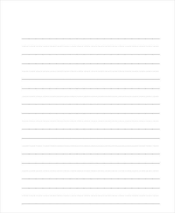 29 Printable Lined Paper Templates – Blank Lined Writing Paper