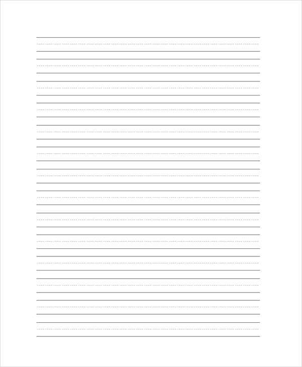28 Free Lined Paper Templates – Lined Blank Paper