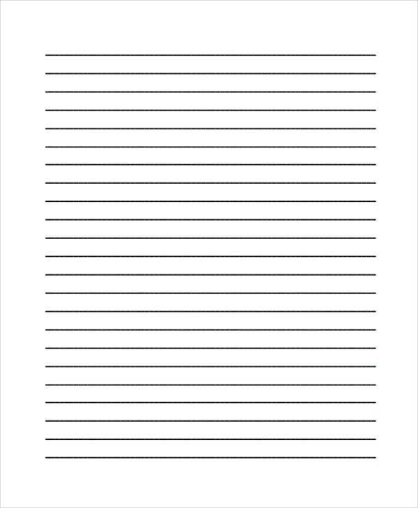 Exceptional Blank Lined Essay Paper Regard To Free Lined Printable Paper