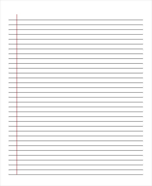 blank lined notebook paper1