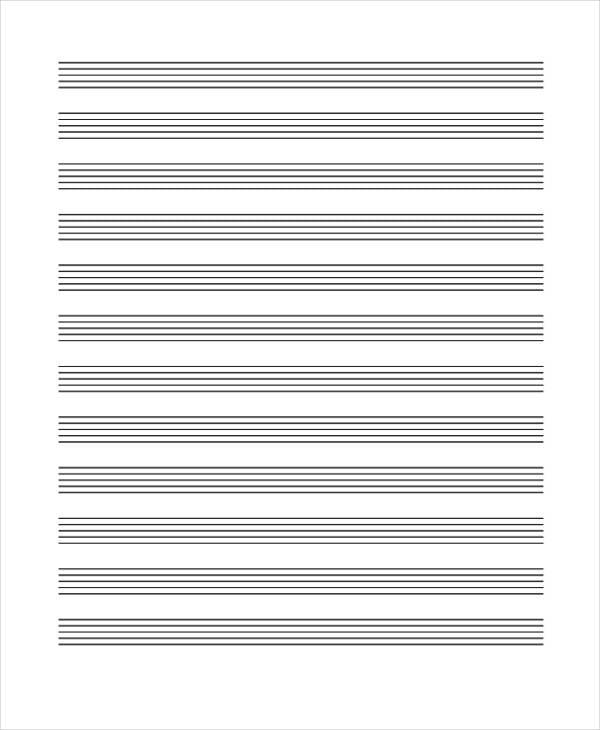 blank music paper