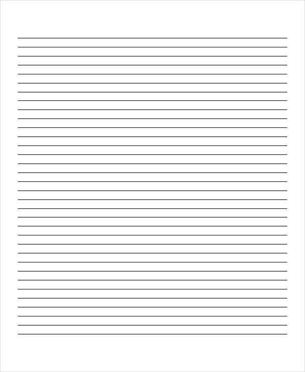 blank primary lined paper
