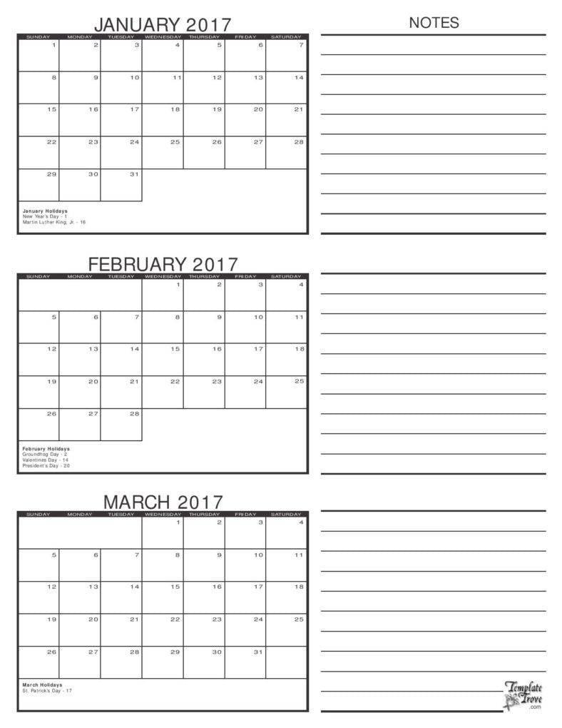 9  calendar templates for business marketing