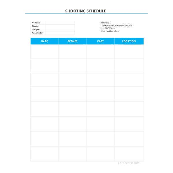 blank-shooting-schedule-template