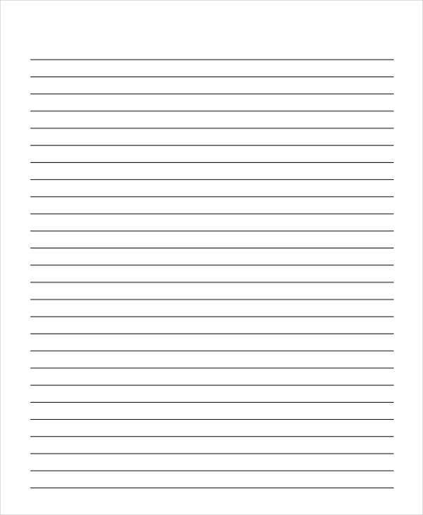Blank Wide Lined Paper  Can You Print On Lined Paper
