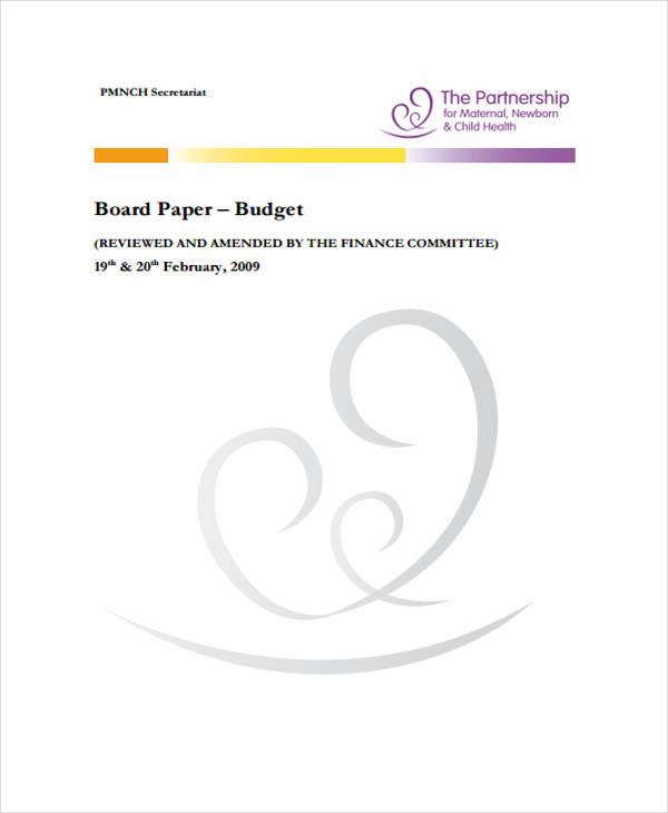 board budget