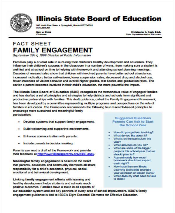 board of education fact sheet