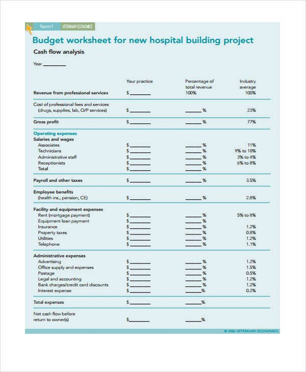 budget for building hospital