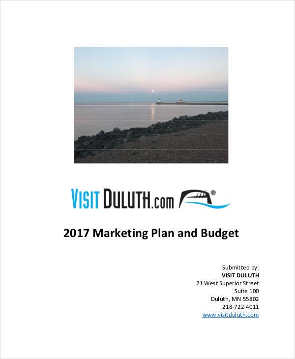 budget for marketing plan