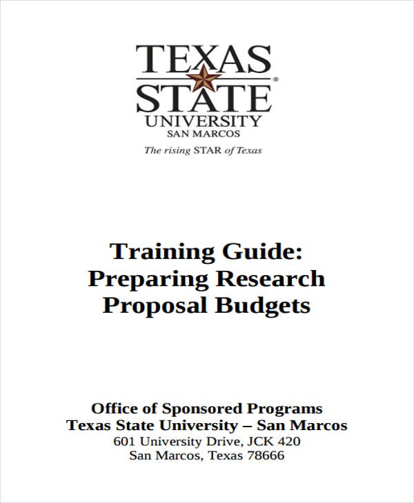 budget for research proposal
