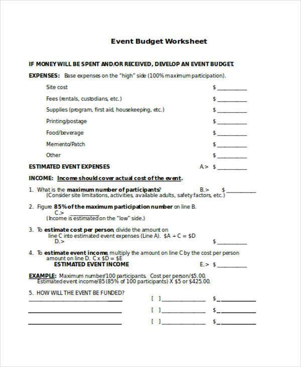 18 Budget Templates In Word | Free & Premium Templates